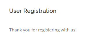 Offline Registration Successful