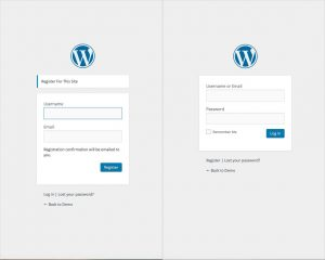 Default login WordPress Registration Plugin