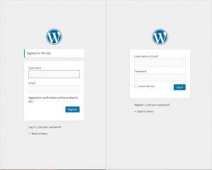 Default login WordPress Registration Plugin