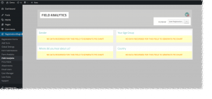 WordPress User Registration Stats Field Analytics Empty