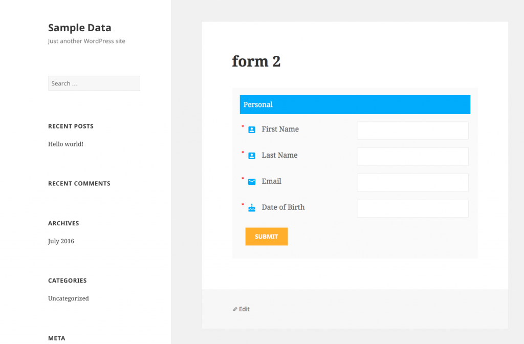 Export WordPress Registration Forms Data - 1