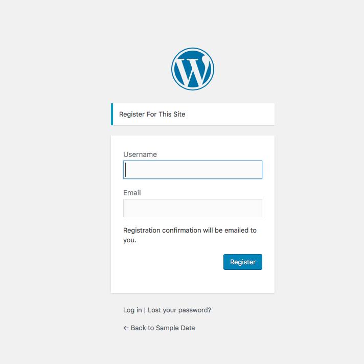 Custom user registration form - 1