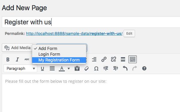 Custom user registration form - 4