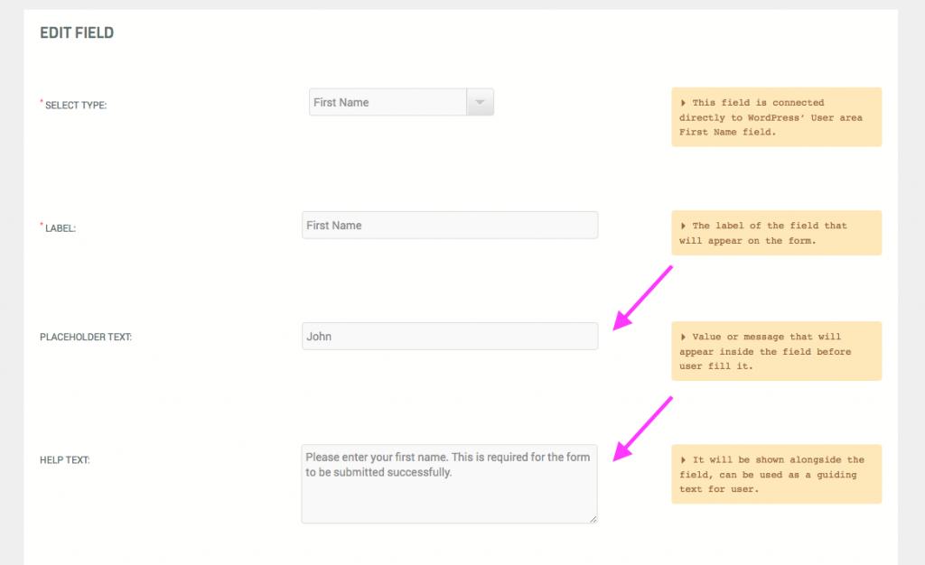 Registration form required fields - 6