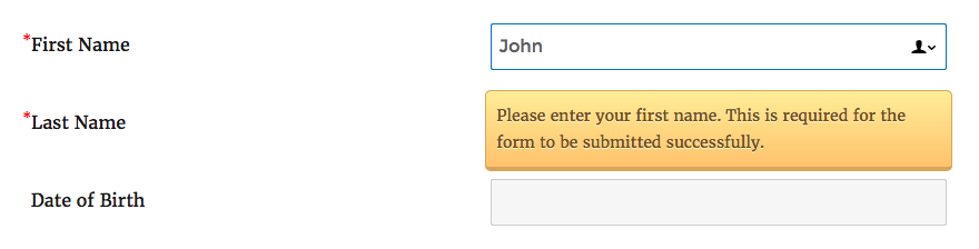 Registration form required fields - 8