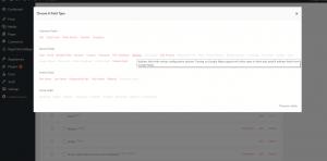 configure address field