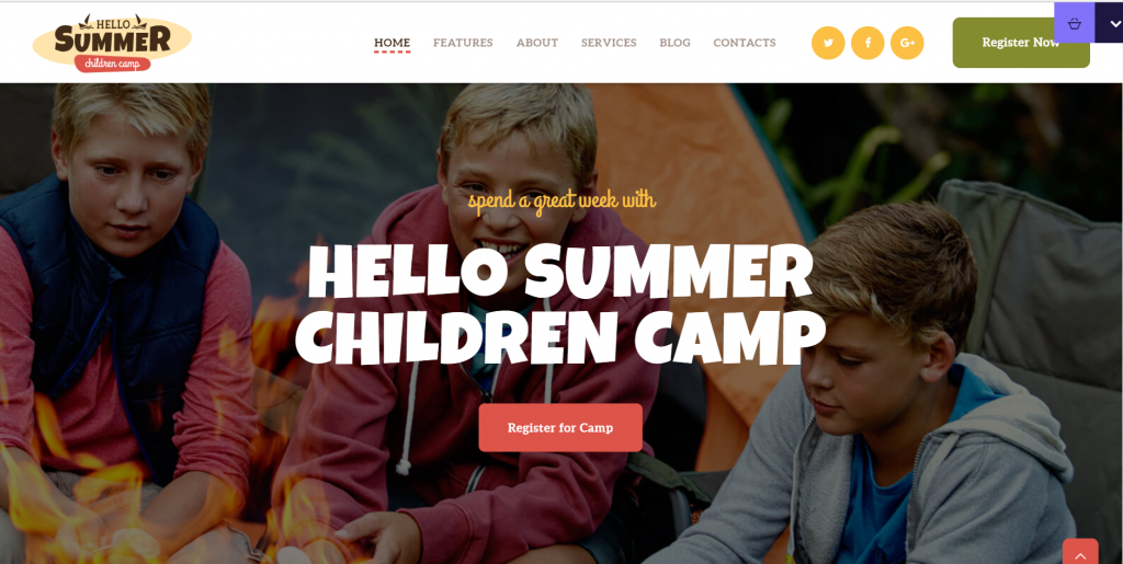 Hello Summer Summer Camp WordPress Theme