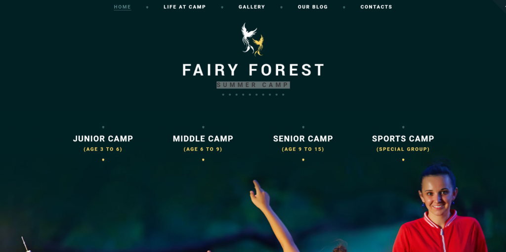 Fairy Forest Summer camp themes for wordpress