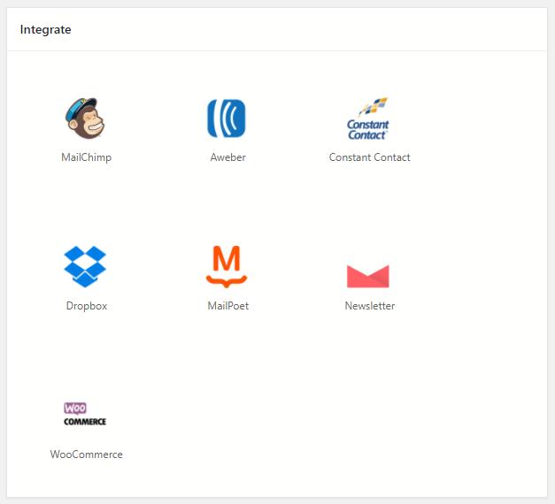 WordPress New User Registration Form Dashboard Newsletter Integrate