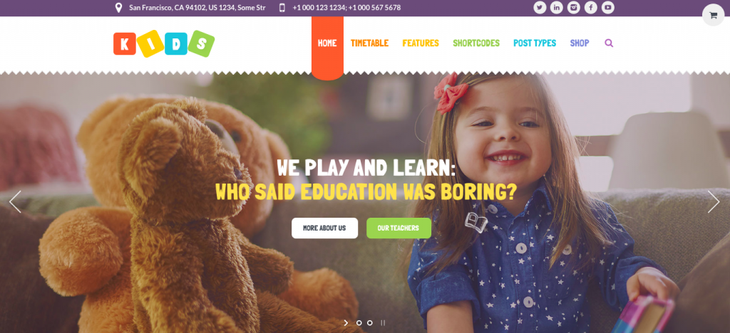 Kids Summer camp themes for wordpress