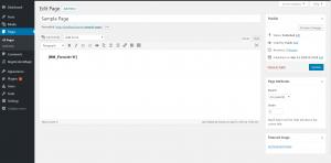 radio button on WordPress form shortcodes