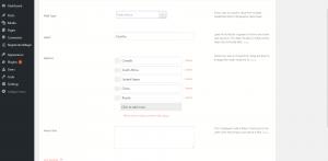 radio button on WordPress form options