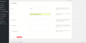 iFrame in WordPress Form Options