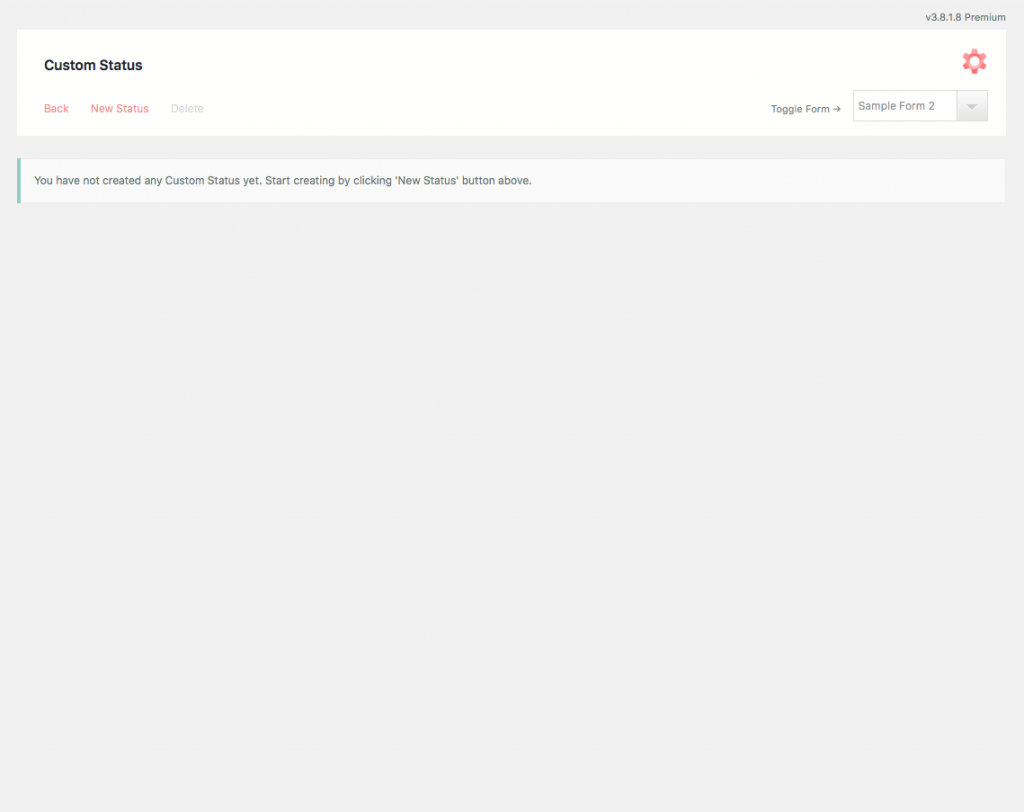 User Submission Custom Status Default Custom Screen