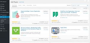 Must have plugins for WordPress sites RegistrationMagic Install