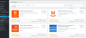 Must have plugins for WordPress sites MailPoet Install