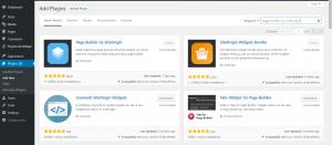 WordPress Page Builder add plugin page