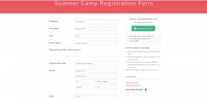 Summer Camp Form Templates Registration