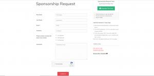 Summer Camp Form Templates Sponsorship form
