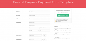 Summer Camp Form Templates Payment Form