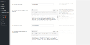 configure wordpress form notification emails options