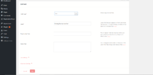 Add conditions to fields in WordPress options