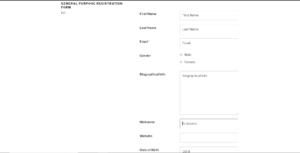 WordPress Registration Page Template preview 2