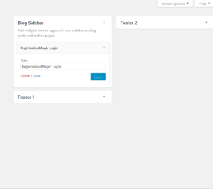 Publish Registration Forms and Display Registered Users frontend