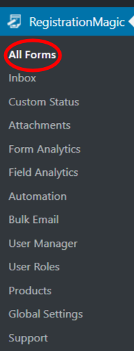 Allow Users to Register And Log in with Email navigation