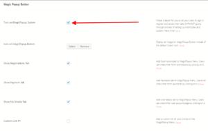 WordPress Pop Up Form magic pop up settings