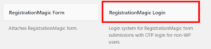 Publish Registration Forms and Display Registered Users login