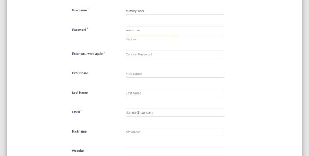 Force Strong Password on WordPress Users medium password