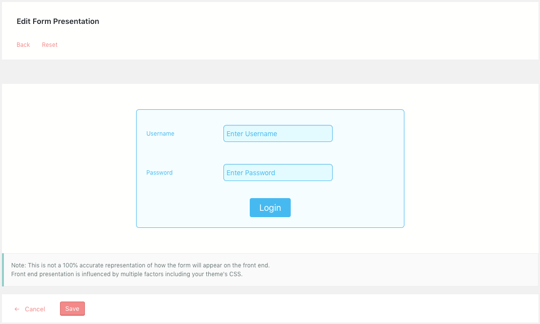 Redesigned WordPress Login Form