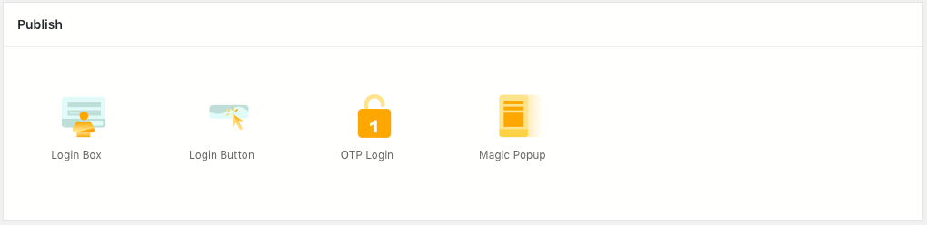 RegistrationMagic WordPress Login Form Publish Section