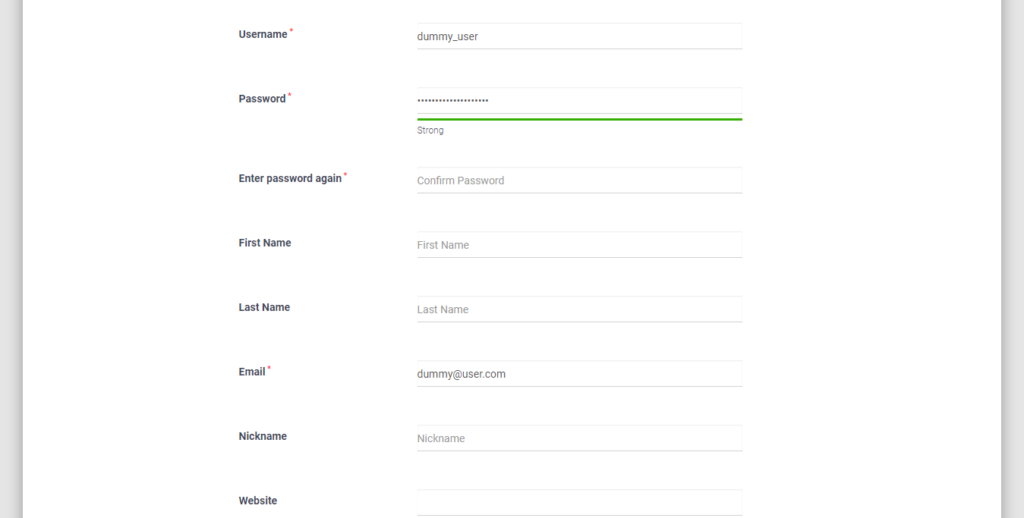 Force Strong Password on WordPress Users strong password