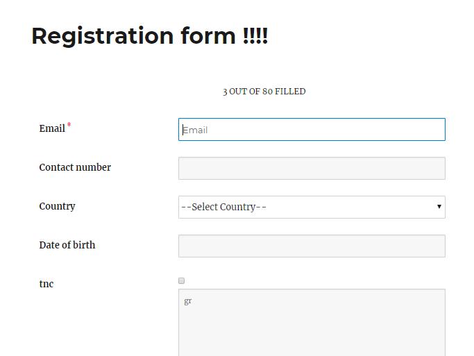 form in WordPress frontend