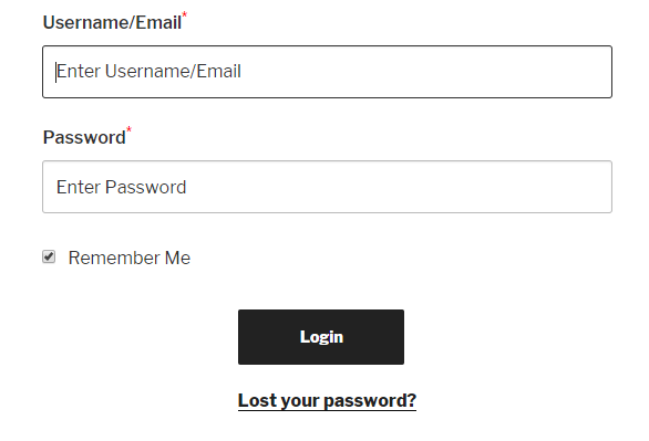 WordPress Login and Registration fronteed with email
