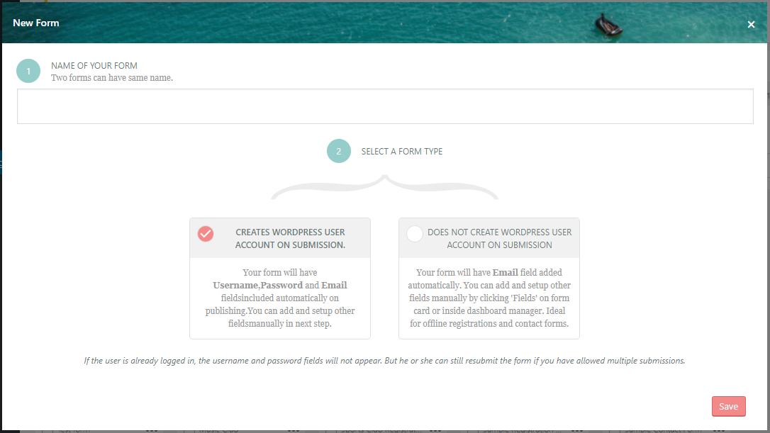 WordPress Class Registration Plugin new form