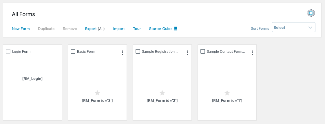 WordPress Registration Forms