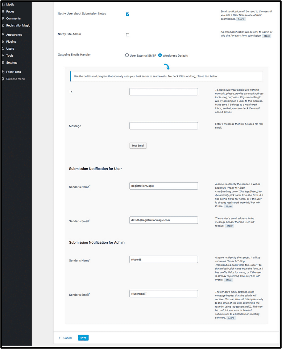 WordPress Form Plugin